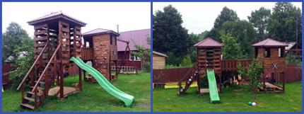 Фотографии построенной детской площадки на даче