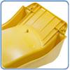 Оборотная сторона желтой горки в верхней части