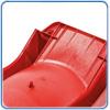 Оборотная сторона красной горки с подключением для воды