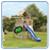 Синий скат на детской площадке