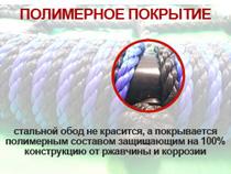 Защитное полимерное покрытие на стальном ободе качелей